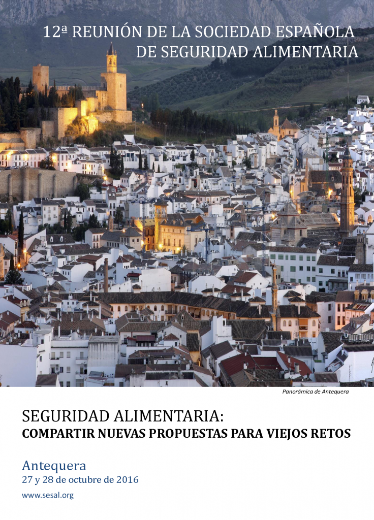Portada 12 Reunión Anual de la Sociedad Española de Seguridad Alimentaria_2016