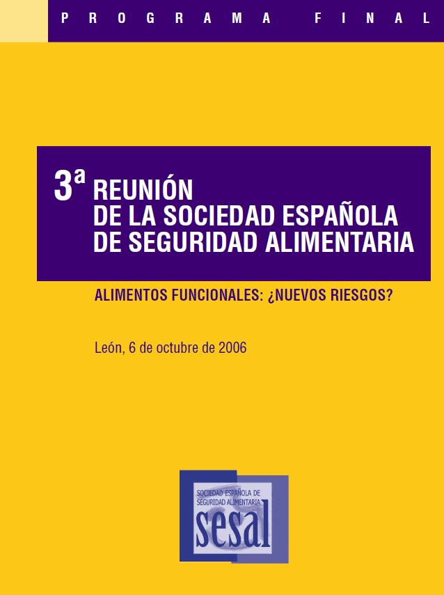 Portada 3 Reunión Anual de la Sociedad Española de Seguridad Alimentaria_2006