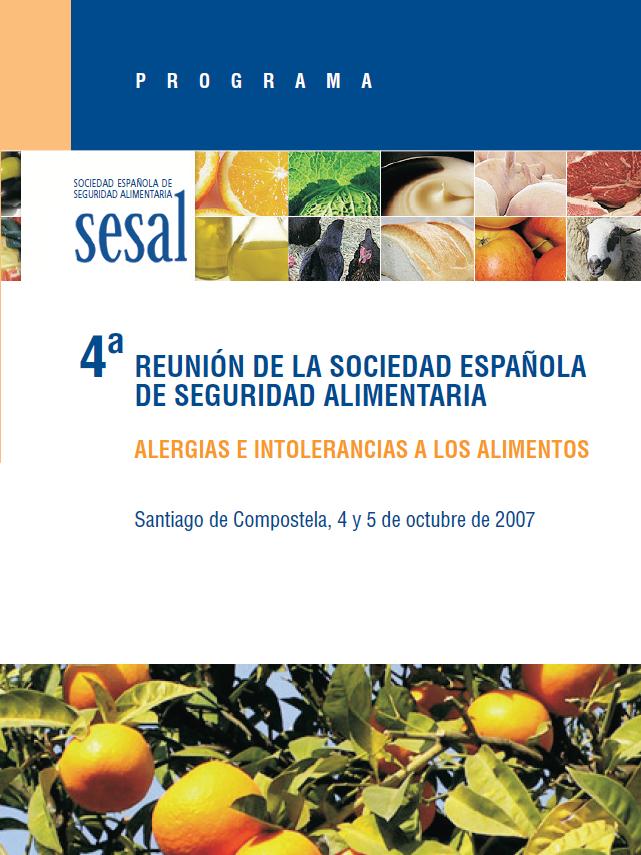 Portada 4 Reunión Anual de la Sociedad Española de Seguridad Alimentaria_2007