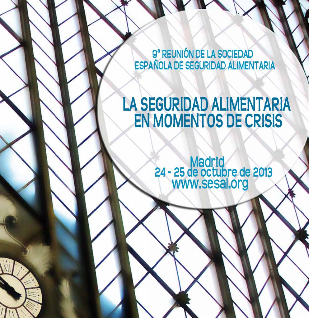 Portada 9 Reunión Anual de la Sociedad Española de Seguridad Alimentaria_2013